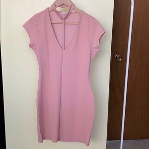 NWOT River island pink dress with collar detail